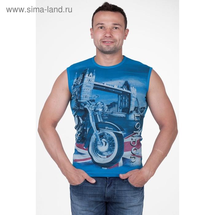 Майка мужская арт.0371, цвет бирюзовый, р-р 3XL