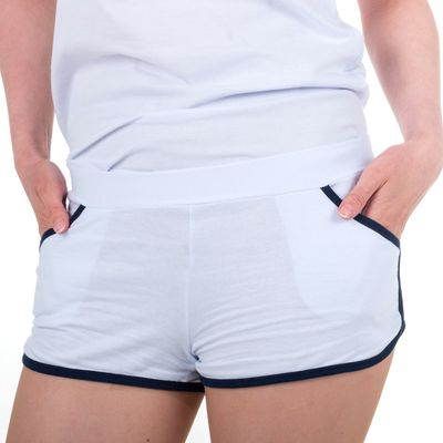 Шорты женские, цвет белый, размер 48