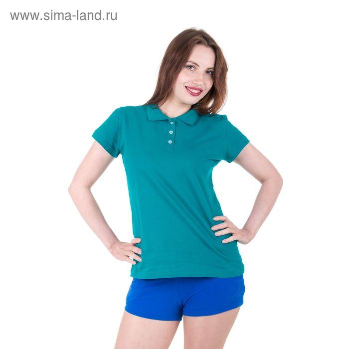 Футболка женская, цвет голубой, размер 48 (арт. 30680)