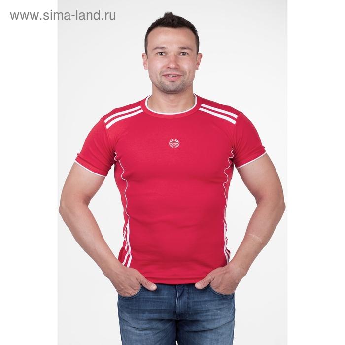 Футболка мужская арт.5062, цвет красный, р-р 3XL