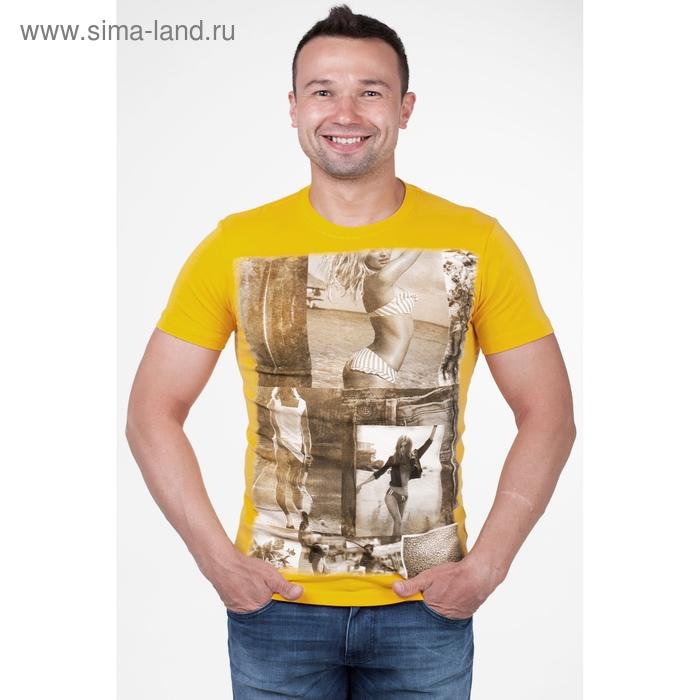 Футболка мужская арт.1557, цвет жёлтый, р-р L
