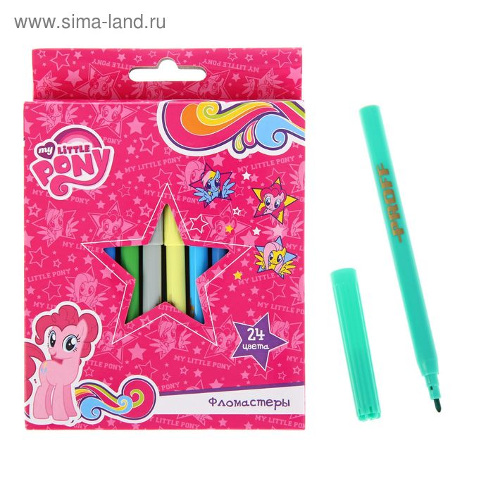 Фломастеры 24цв My Little Pony, вентилир/колпачок, карт/короб LP16-TVC24