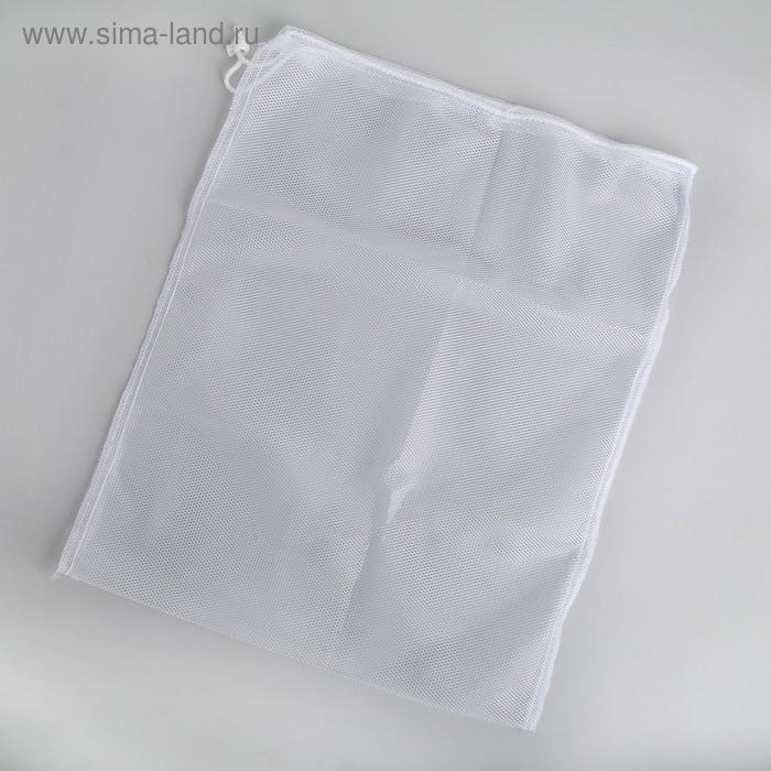 Мешок для стирки белья, со шнуром, 38х50 см