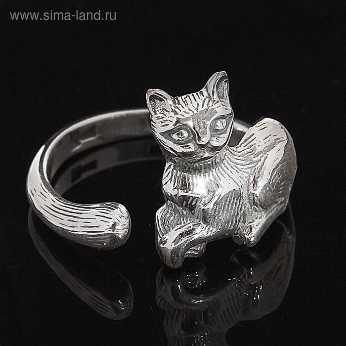 """Кольцо """"Матильда"""", безразмерное, цвет чернёное серебро"""