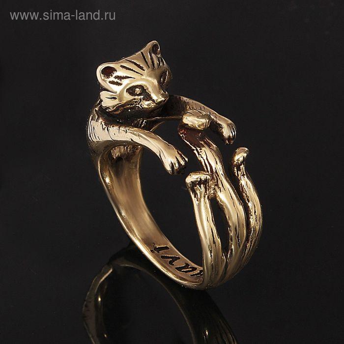 """Кольцо """"Тимон"""", размер 18, цвет бронзовый"""