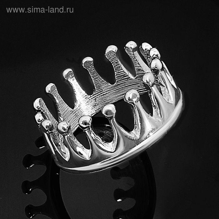 """Кольцо """"Принцесска"""", размер 18, цвет серебряный"""