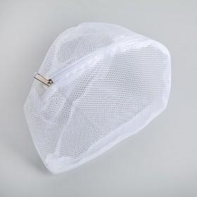 Мешок для стирки бюстгальтеров, 28×4 см, цвет белый - фото 4636604