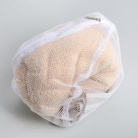 Мешок для стирки бюстгальтеров, 28×4 см, цвет белый