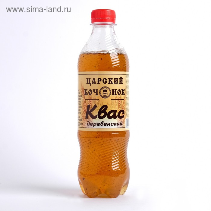 "Квас ""Царский Бочонок"" Деревенский, 0,5 л"