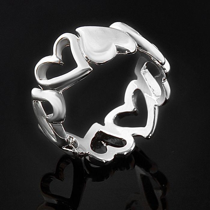 "Кольцо ""Котильон"", размер 18, черненое серебро"