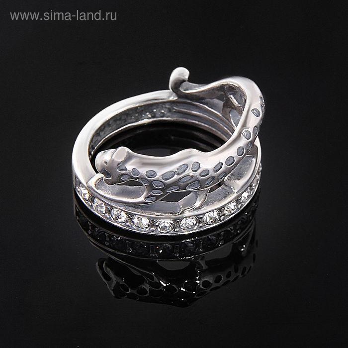 """Кольцо """"Ульмара"""", размер 18, цвет белый в черненом серебре"""