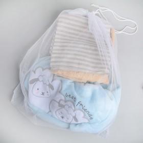 Мешок для стирки белья со шнуром, 50×56 см, цвет белый
