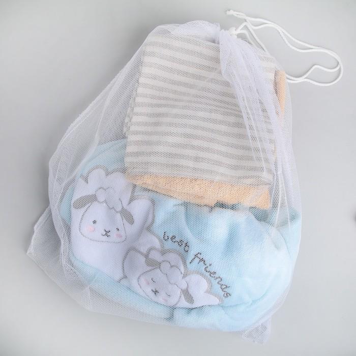 Мешок для стирки белья, со шнуром, 50х56 см