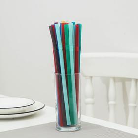 Набор одноразовых трубочек с изгибом Jambo, 8×240 мм , цветные, 250 шт/уп