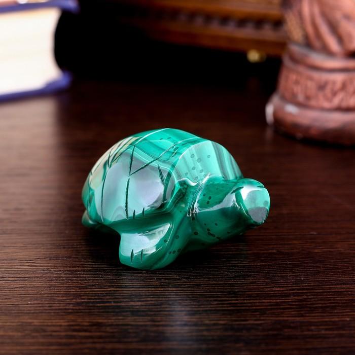 """Сувенир """"Черепаха"""", натуральный малахит - фото 8881026"""