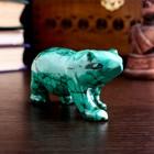 """Souvenir """"Bear"""", natural malachite"""