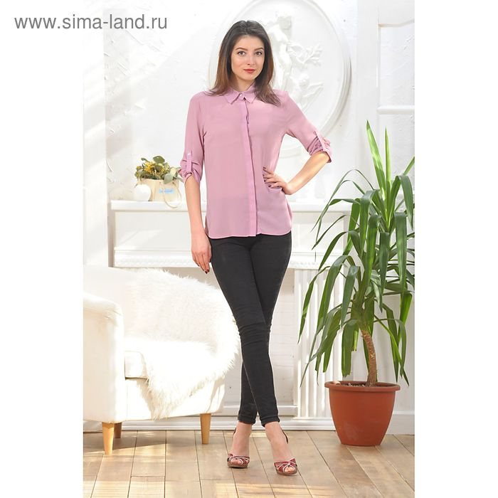 Блуза, размер 48, рост 164 см, цвет цикламен (арт. 4887а)