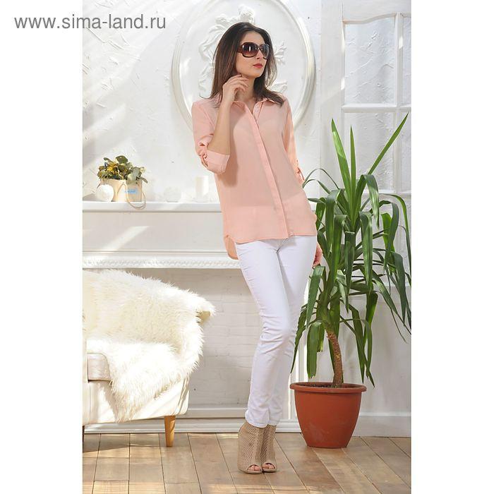 Блуза, размер 52, рост 164 см, цвет пудра (арт. 4887б)