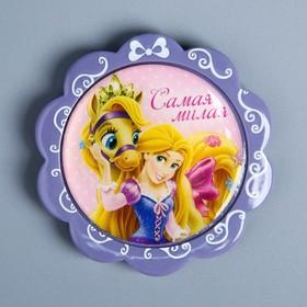 Магнит на открытке 'С Днем Рождения!', Принцессы Ош