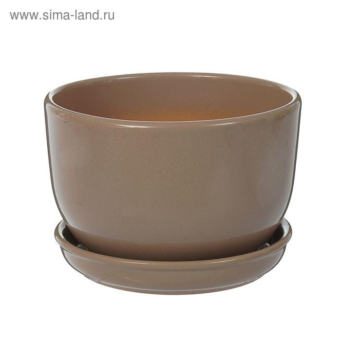 "Кашпо ""Натур"" коричневое 1,65 л"