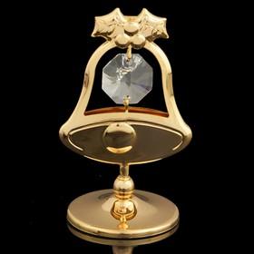 Сувенир «Колокольчик», с кристаллами Сваровски, 6 см