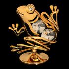 Сувенир «Лягушка», 3х5х6 см, с кристаллами Сваровски