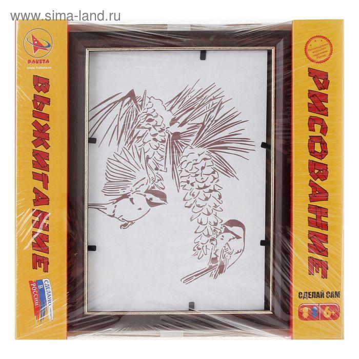 """Доска для рисования и выжигания в рамке """"Птицы"""""""