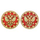 """Часы """"Россия"""" герб, красный фон, Ø25 см"""