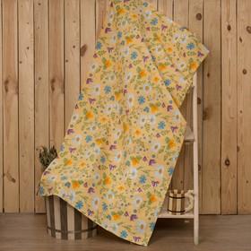 "Towel for bath Collorista ""Russian field"" 80s 150 cm, cotton waffle fabric"
