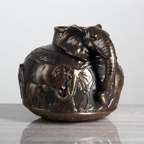 """Ваза настольная """"Слон"""", бронза, 23 см, микс"""