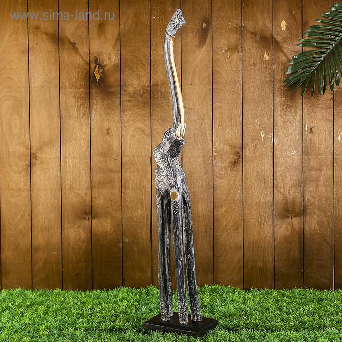 """Сувенир дерево """"Слон Гром"""" серый, 80 см"""