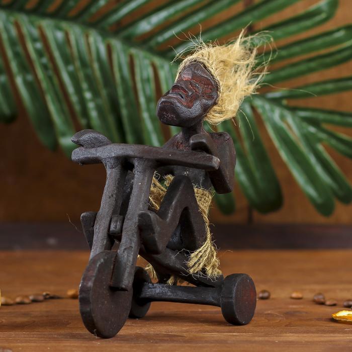 """Сувенир """"Абориген на трехколесном велосипеде"""" - фото 1003475"""