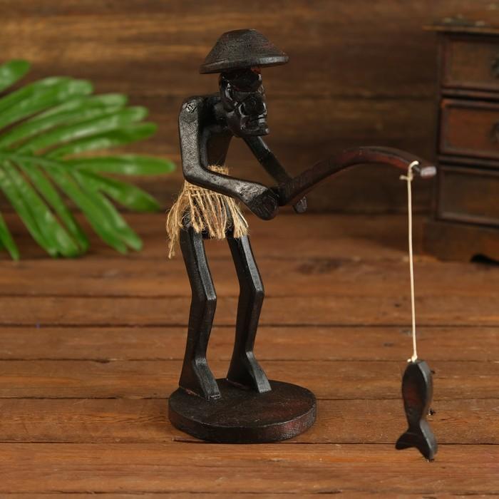 "Сувенир ""Абориген-рыбак"" - фото 1003488"