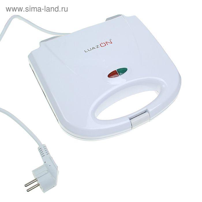 Вафельница LuazON LT-09, для венских вафель, 750 Вт, индикатор, антиприг. покрытие, белая