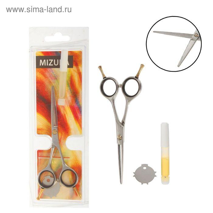 Ножницы парикмахерские с упором, 5 дюймов, цвет серебристый