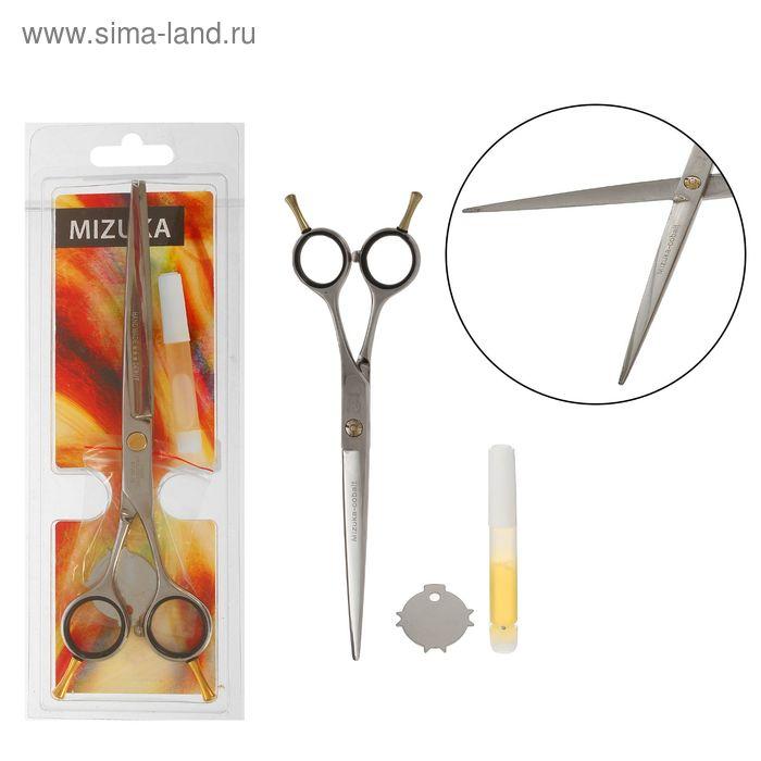 Ножницы парикмахерские с упором, 7 дюймов, цвет серебристый
