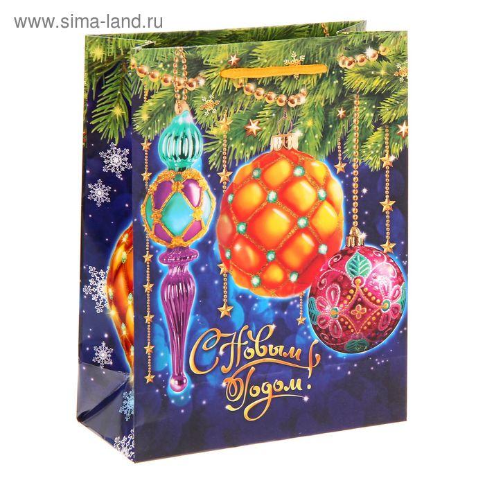 """Пакет ламинат вертикальный """"Новогодние шарики"""" MS"""