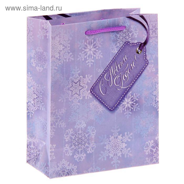 Пакет ламинат вертикальный «Снежинки», S 11 х 14 х 5,5 см