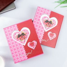 "Photo album for 40 photos 10x15 cm ""Heart affection"" in the box mix"