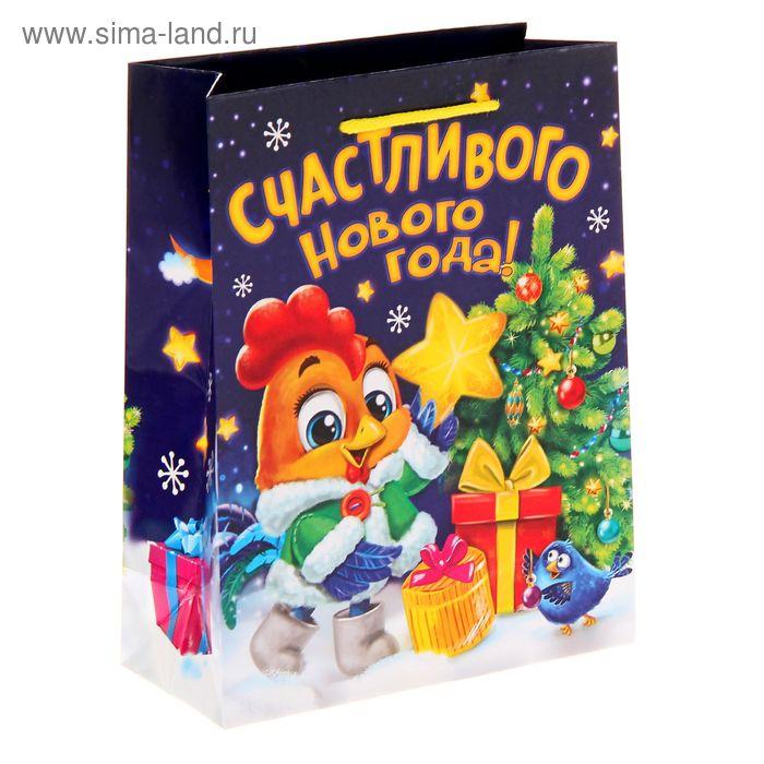 """Пакет ламинат вертикальный """"Новогодний петушок"""" MS"""