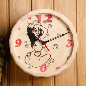"""Часы банные бочонок """"Девушка"""" - фото 7393108"""