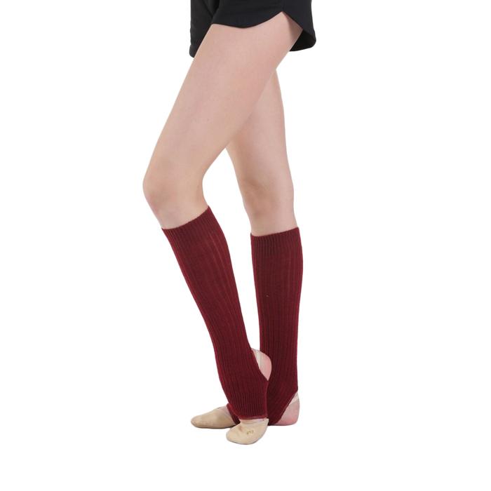 Гетры для танцев, с отверстием под пятку, 40 см, цвет вишнёвый