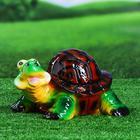 """Садовая фигура """"Счастливая черепаха"""" глянец"""