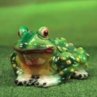 """Садовая фигура """"Удивлённая жаба"""" глянец"""