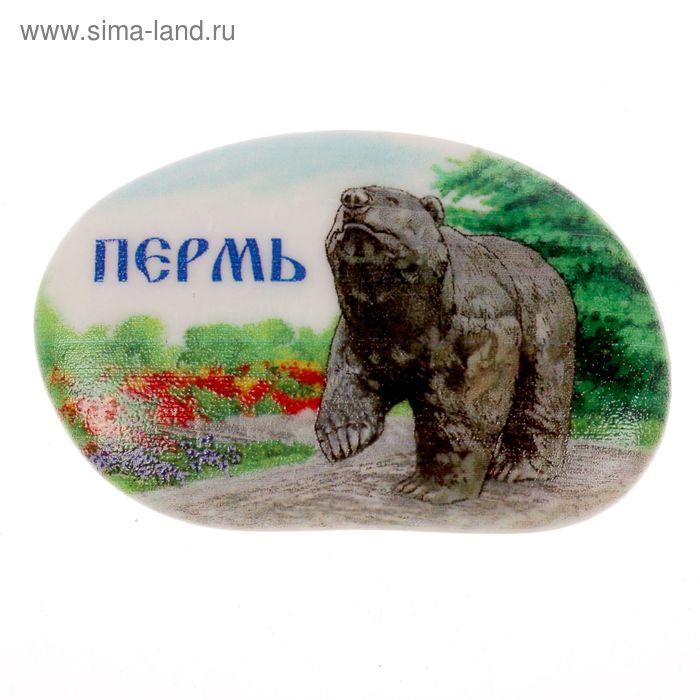 """Магнит в форме гальки """"Пермь"""""""