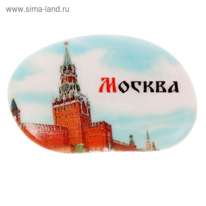 "Магнит в форме гальки ""Москва"""