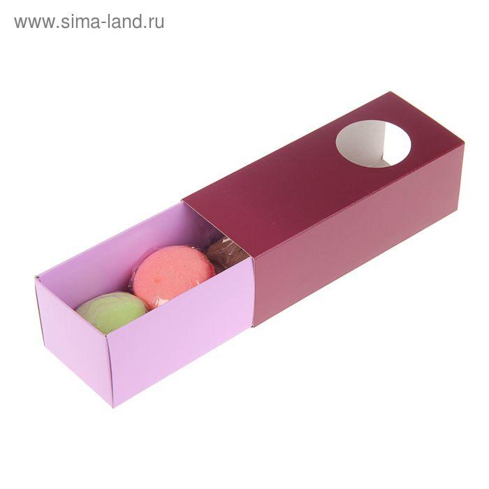 Коробка для сладостей, пенал, 15 х 6 х 5 см, нежно-розовый/ирис