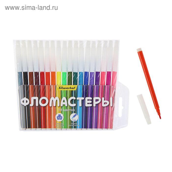 Фломастеры 18цв Народная коллекция, невентилир/колпачок, круглый PP-корпус 877067-18