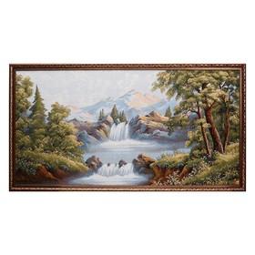 """Гобеленовая картина """"Водопад и горы"""""""