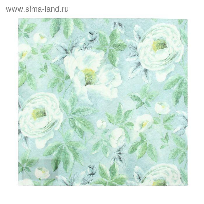 """Войлочное полотно с рисунком""""Белые розы"""""""